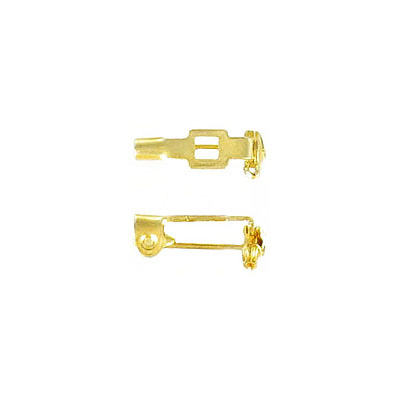 Bar pin with swivel closure 13mm (1/2inch) gold plate