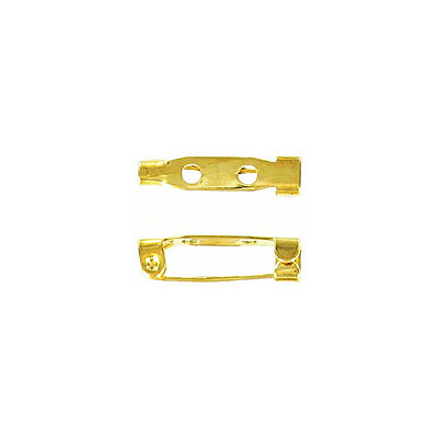 Bar pin with hook closure 19mm (3/4inch) gold plate