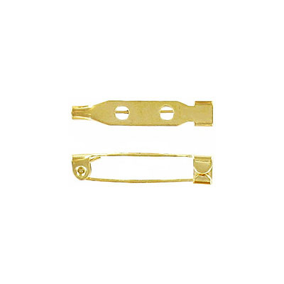 Bar pin with hook closure 25mm (1inch) gold plate