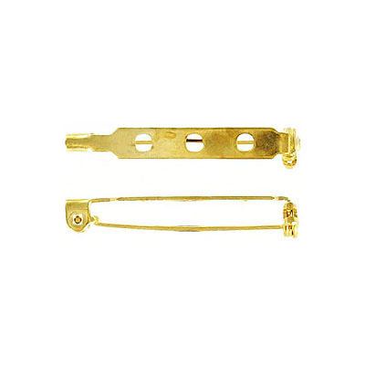 Bar pin with swivel closure 32mm (1 1/4inch) brass plate