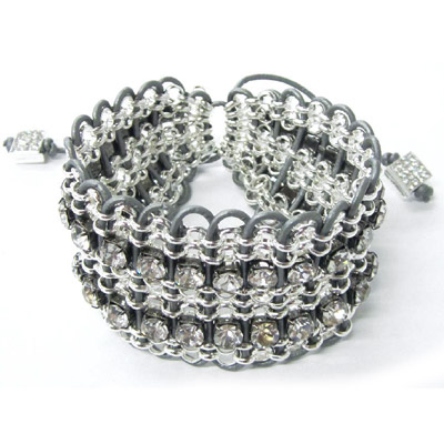 Chain and leather cuff bracelet kit.
