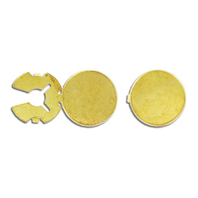 Button cover 18mm gold plate