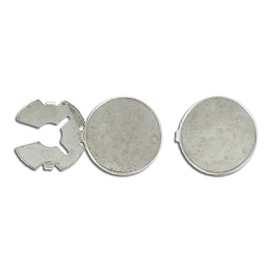 Button cover 18mm nickel plate