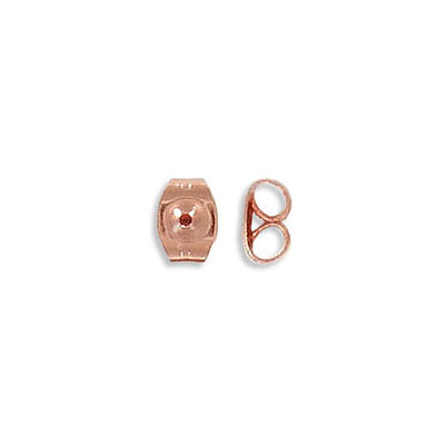Ear clutch, stainless steel, rose gold vacuum plating