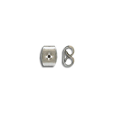 Earrings clutch, 6x5mm,stainless steel