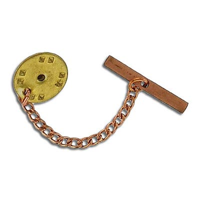 Nail clutch back with 4mm (1.5) chain 12mm raw