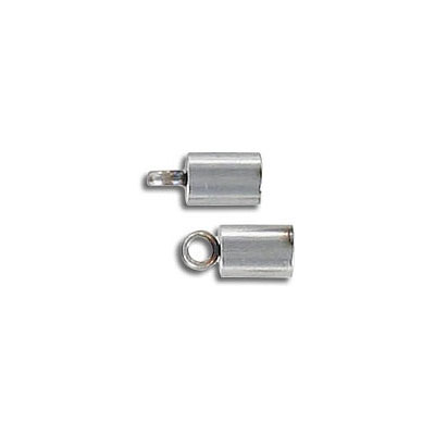 Cord end, 3mm inside diameter, stainless steel, grade 304l