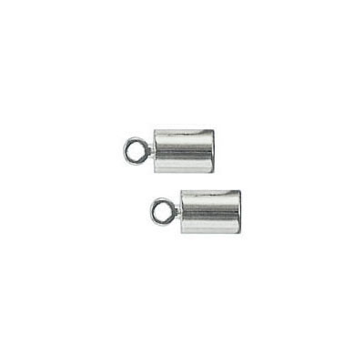 Cord end, 7x4mm, (id 3mm), nickel plate
