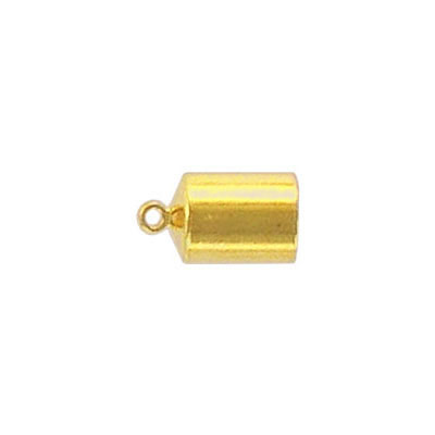 Cord end gold plate