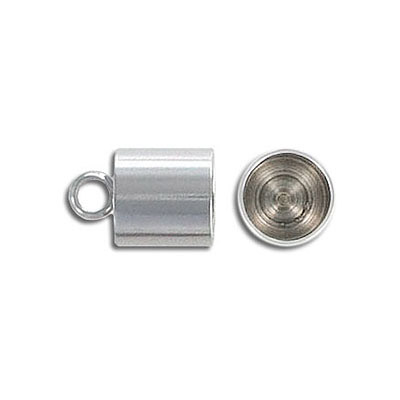 Cord end, 9mm, inside diameter 8mm, stainless steel 304l