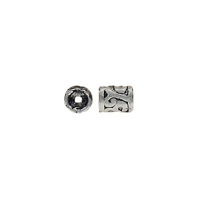 Cord end, inside diameter 3.8mm, antique silver