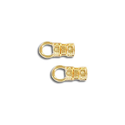 Cord end, 2.5mm, gold plate