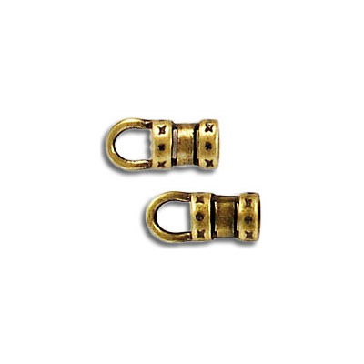 Cord end, 3.0mm, antique brass