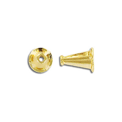 Cord end, gold plate, lead/cad safe