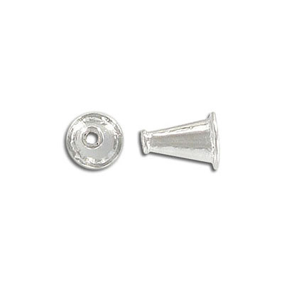 Cord end, silver plate, lead/cad safe