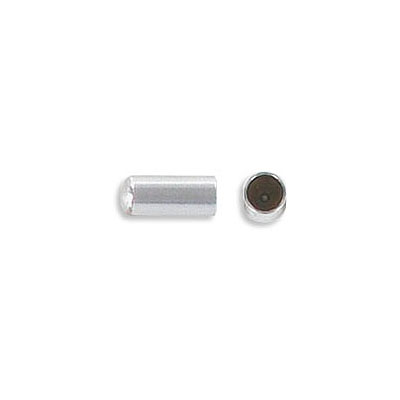 Cord end, 7.5x3.5mm, inside diameter 3mm, stainless steel, grade 304