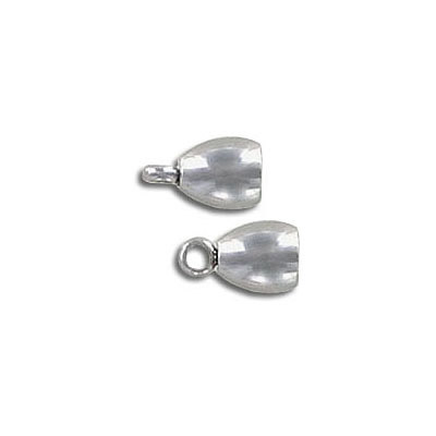 Cord end, 9x5.45mm, inside diameter 4mm, stainless steel, 304l