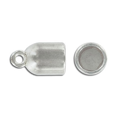 Cord end, 22x13mm, inside diameter 10mm, zinc alloy, antique silver, nickel free