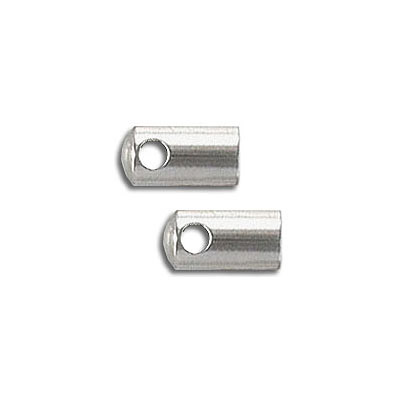 Cord end, 4mm inner diameter, stainless steel
