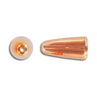 Cord end, rose gold plate