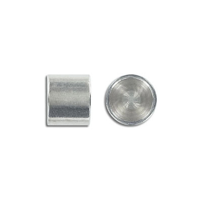 Cord end, 12x10mm, brass base end cap, inside diameter 10mm, antique silver, nickel free. Made in Europe