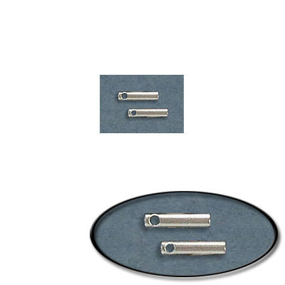 Cord end, 7x1.6mm, inside diameter 1mm, stainless steel