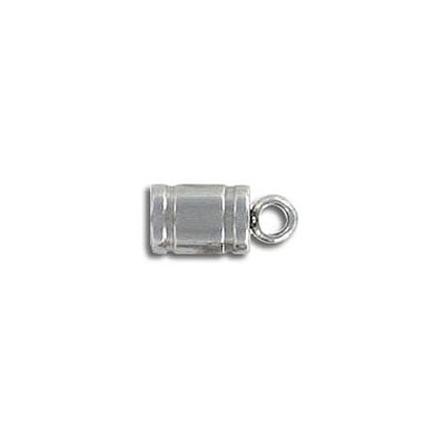 Cord end, 5mm, inside diameter 4mm, stainless steel