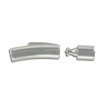 Clasp, 30x6mm, hole 5mm, stainless steel