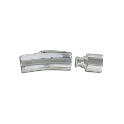 Magnetic clasp, 30x8mm, inside diameter 6mm, stainless steel