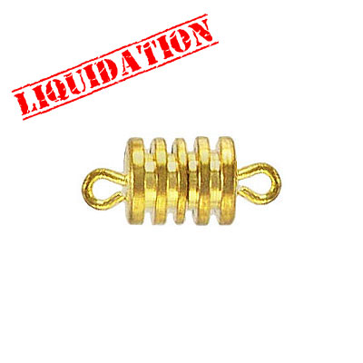 Barrel screw clasp, large, 10x8mm, gold plate