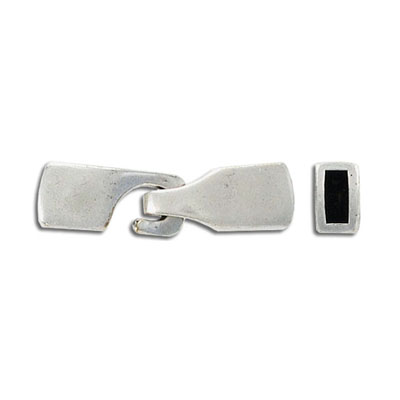 Hook clasp for Regaliz leather TT5MMF, 30x8mm, antique silver