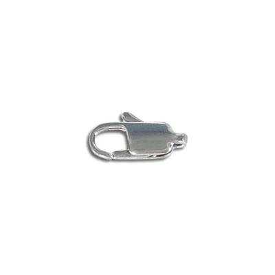 Clasp, 12mm, stainless steel, 304l