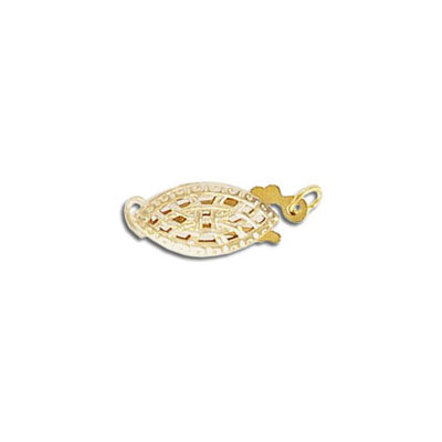 Clasp, 12x6mm, 1 row, gold filled