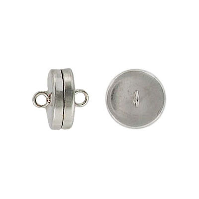 Magnetic clasp, 10mm, stainless steel