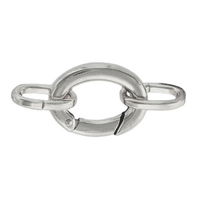Oval clasp with 2 loops 21x15mm nickel plate nkf
