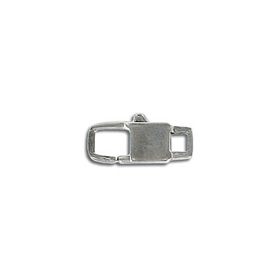 Rectangular clasp, 15mm, stainless steel