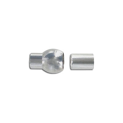 Magnetic clasp, 20X11mm, inside diameter 6mm, stainless steel