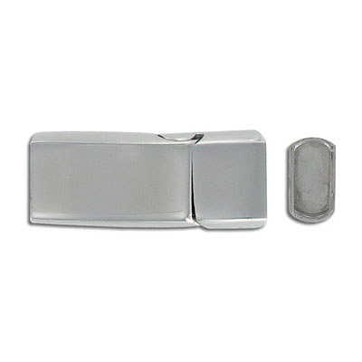 Magnetic clasp, 32x14mm, 12x5mm inner diameter, stainless steel