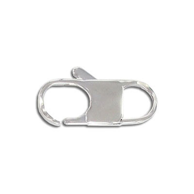 Clasp, 25x10mm, stainless steel