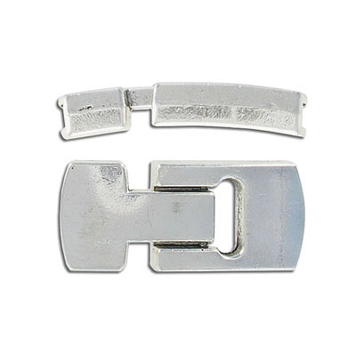 Flat magnetic clasp, 40x18mm, inside diameter 15x4mm, antique silver