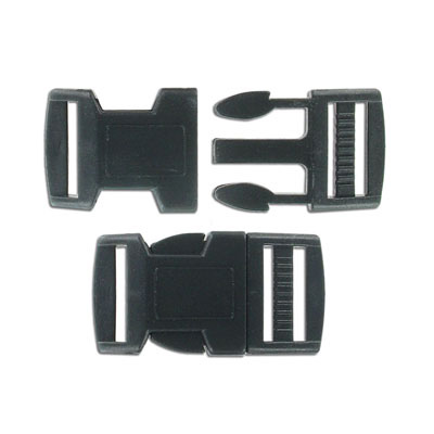 Plastic paracord buckle, 49x25mm, black