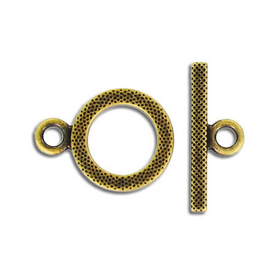 Toggle clasp, 16mm, antique brass