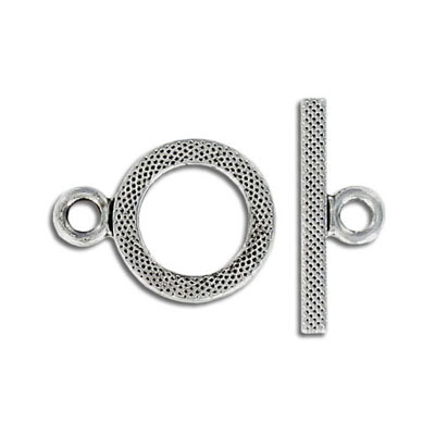 Toggle clasp, 16mm, antique silver