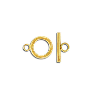 Toggle clasp, 12mm, stainless steel, 304L, gold vacuum plating