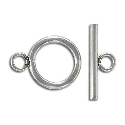 Toggle clasp, 14mm, stainless steel