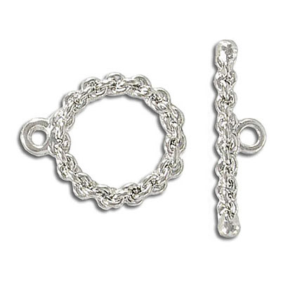 Toggle clasp, silver plate, lead/cad safe