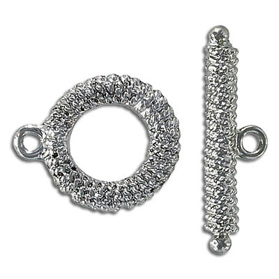 Toggle clasp, nickel finish, lead/cad safe