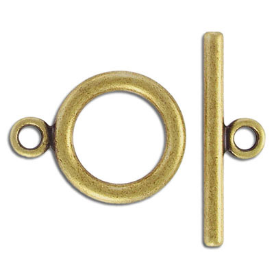 Toggle clasp, 25mm, antique brass