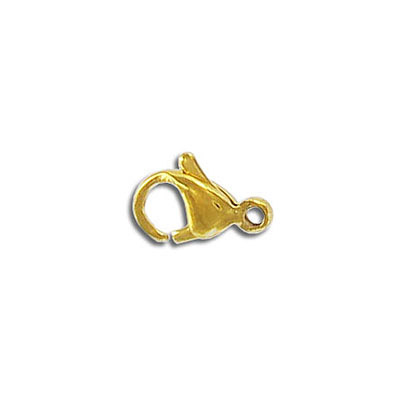 Lobster clasp, 13mm, stainless steel, gold plate