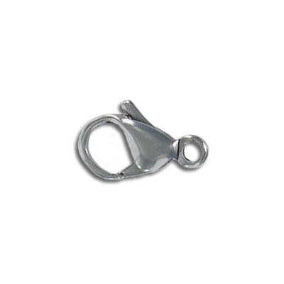 Lobster clasp, 15mm, stainless steel 304l, value pack